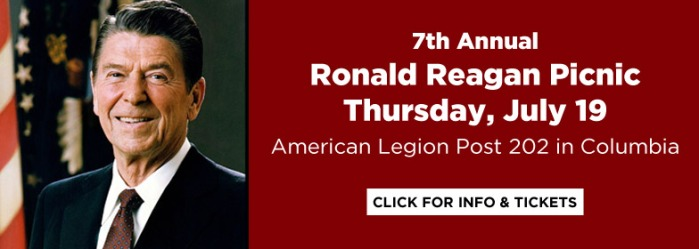 Ronald Reagan Picnic Thursday July 19 American Legion Post 202 in Columbia